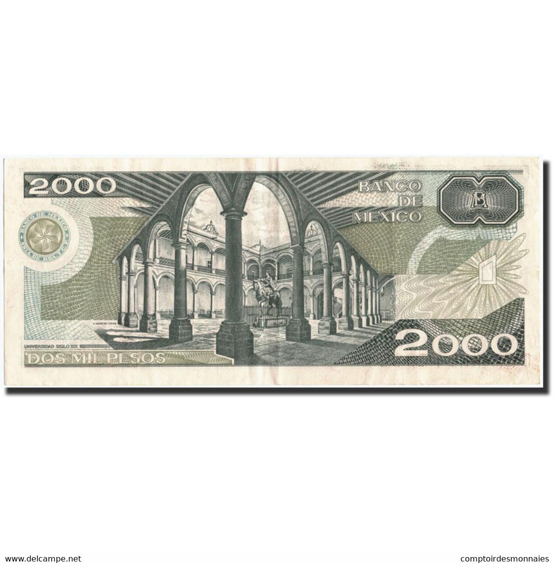 Mexique, 2000 Pesos, 1987, KM:86b, 1987-02-24, TTB - Mexique