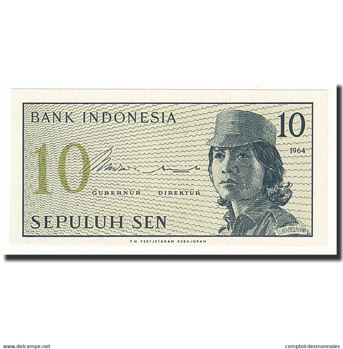 Indonésie, 10 Sen, Undated (1964), KM:92a, NEUF - Indonésie