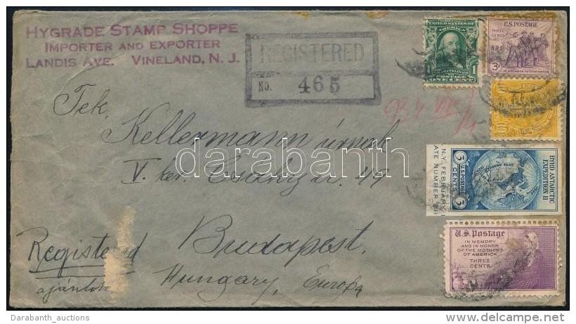 1934 Ajánlott Levél Budapestre - Zonder Classificatie