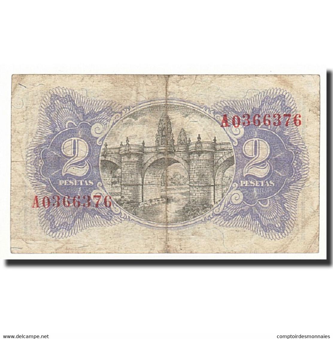 Espagne, 2 Pesetas, 1938, KM:95, TB - [ 3] 1936-1975 : Régence De Franco