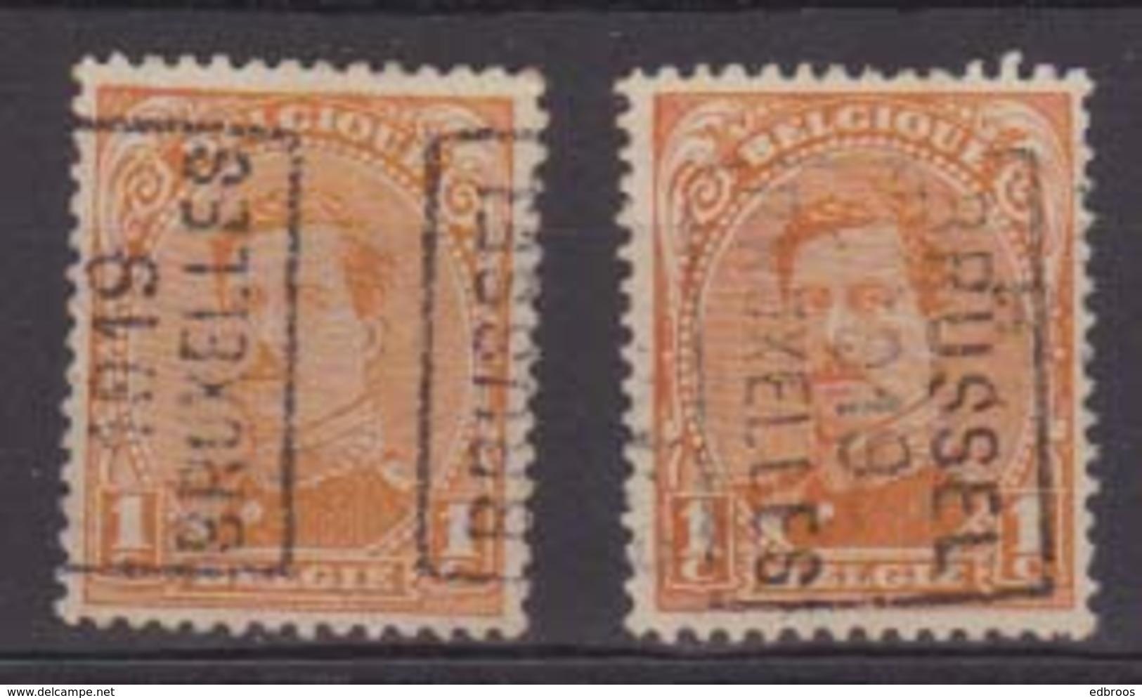 België/Belgique  Preo  Handrol/roulette N°2430 A+B Bussel/Bruxelles 1919 Type I. - Precancels