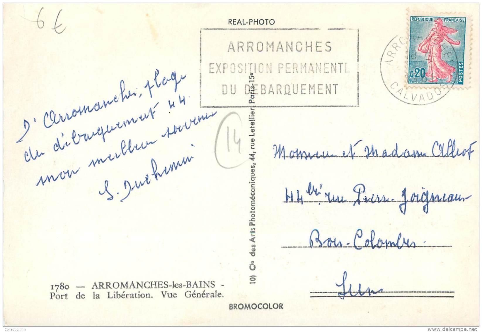"""/ CPSM FRANCE 14 """"Arromanches Les Bains, Port De La Libération, Vue Générale"""" - Arromanches"""