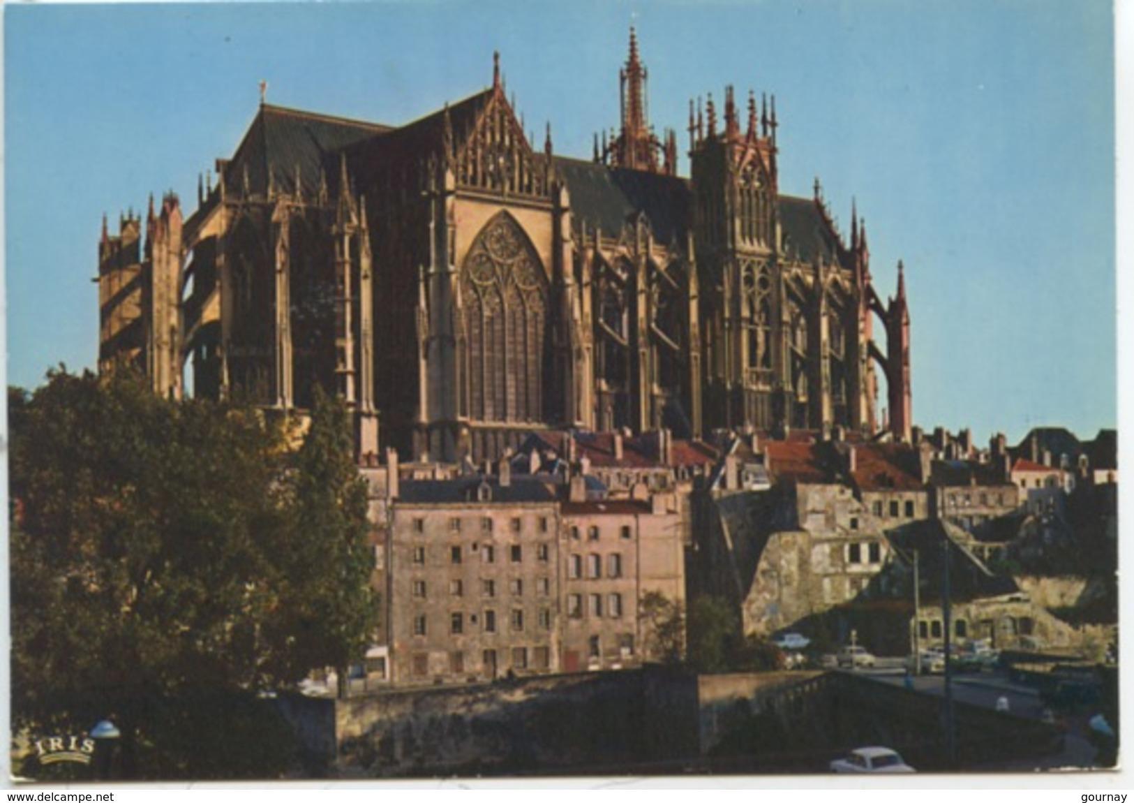 Metz : Cathédrale Vue Depuis La Préfecture (n°57/463/261 éd De L'oeuvre) Cp Vierge - Metz