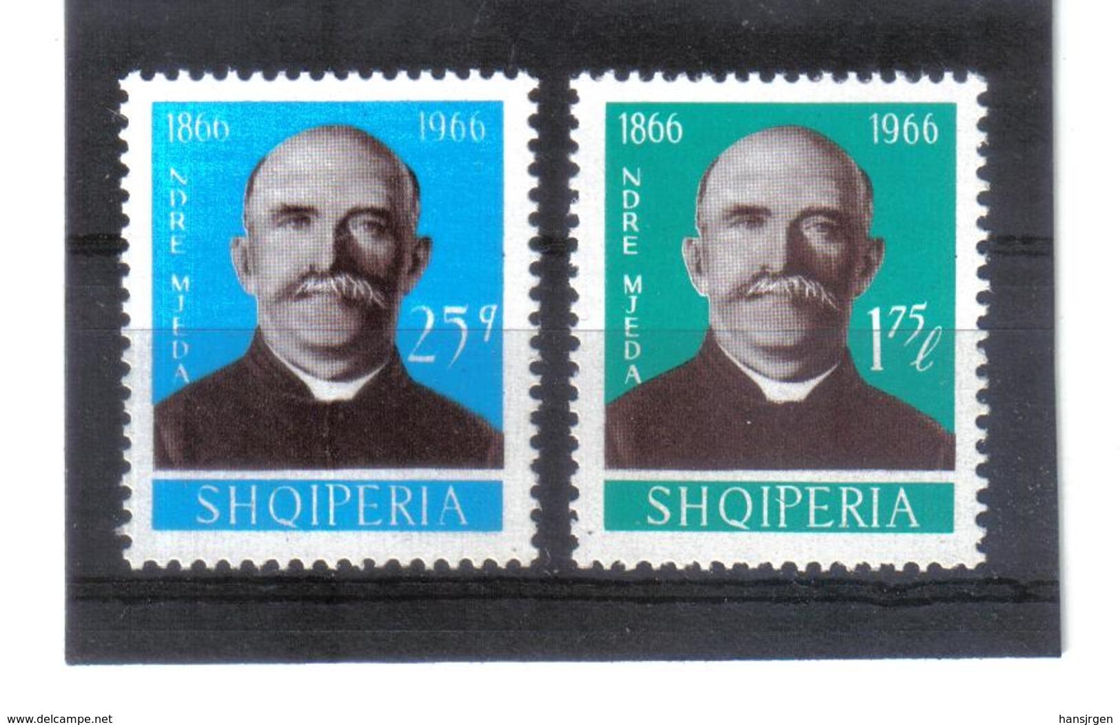 OST1468 ALBANIEN 1966  MICHL 1119/20 Postfrisch SIEHE ABBILDUNG - Albania