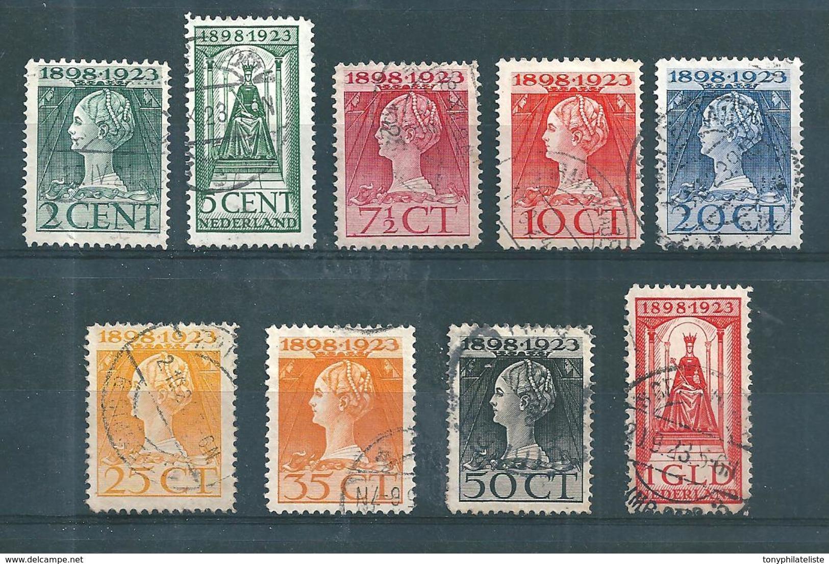 Pays Bas Timbres De 1923  N°118 A 126   Oblitérés - Used Stamps