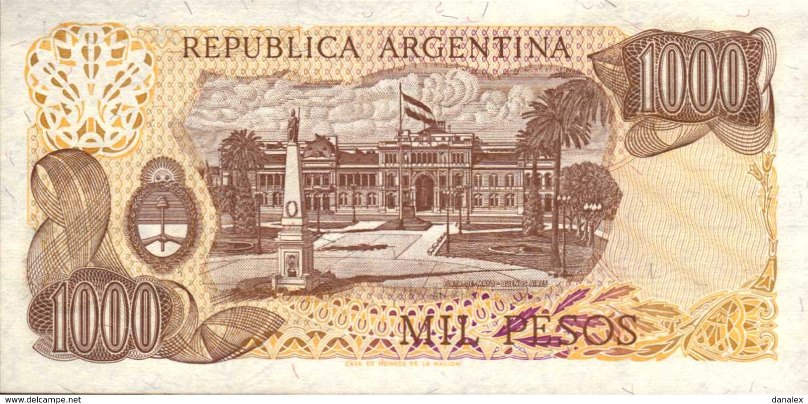 ARGENTINE  1000  PESOS  De  1976-83nd  Pick 304d  UNC/NEUF - Argentine