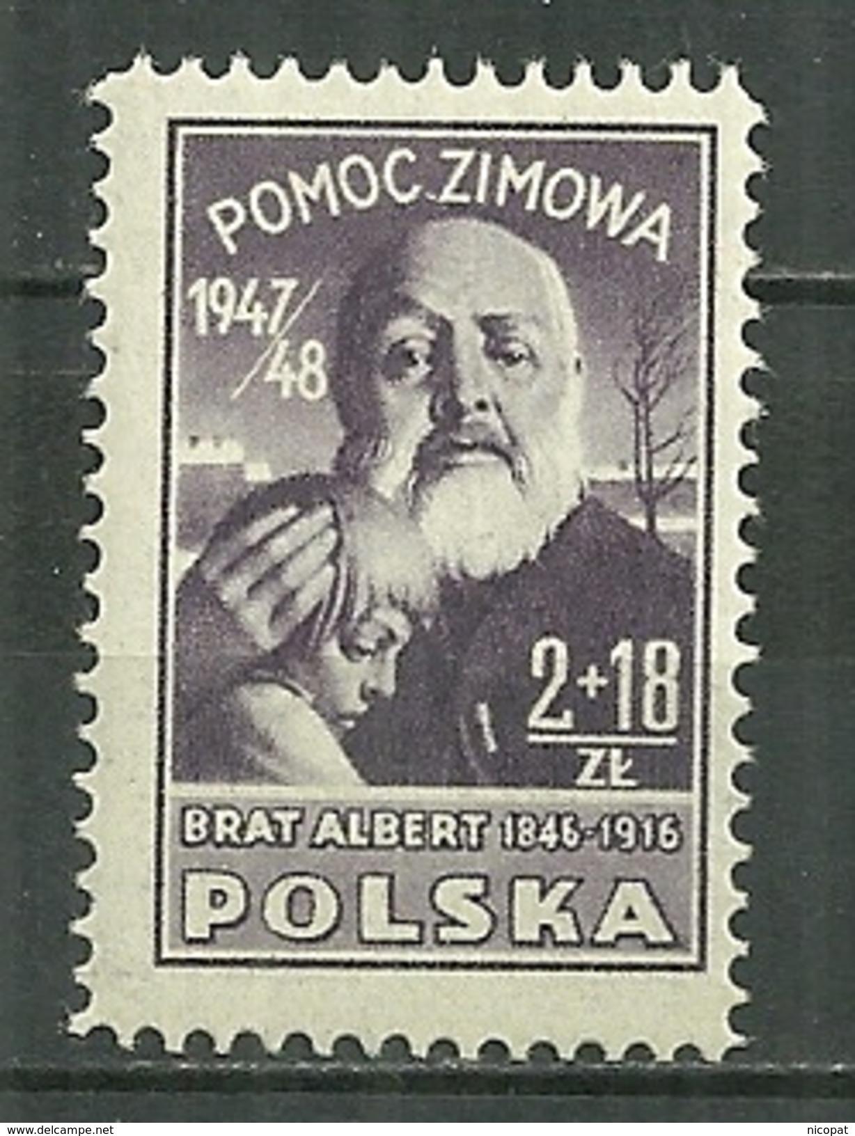 POLAND MNH ** 508 Secours D´hiver, Frère Albert, Enfant, Religion - 1944-.... République