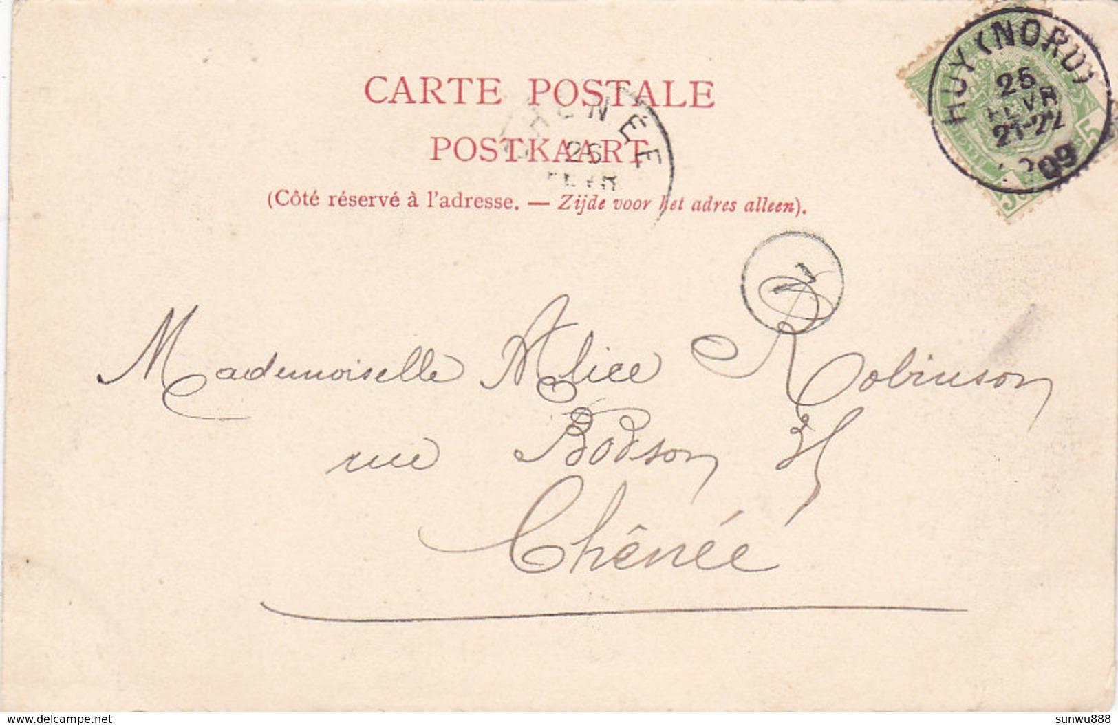 Route De Bel-Air à Marchin (animée, 1909) - Marchin