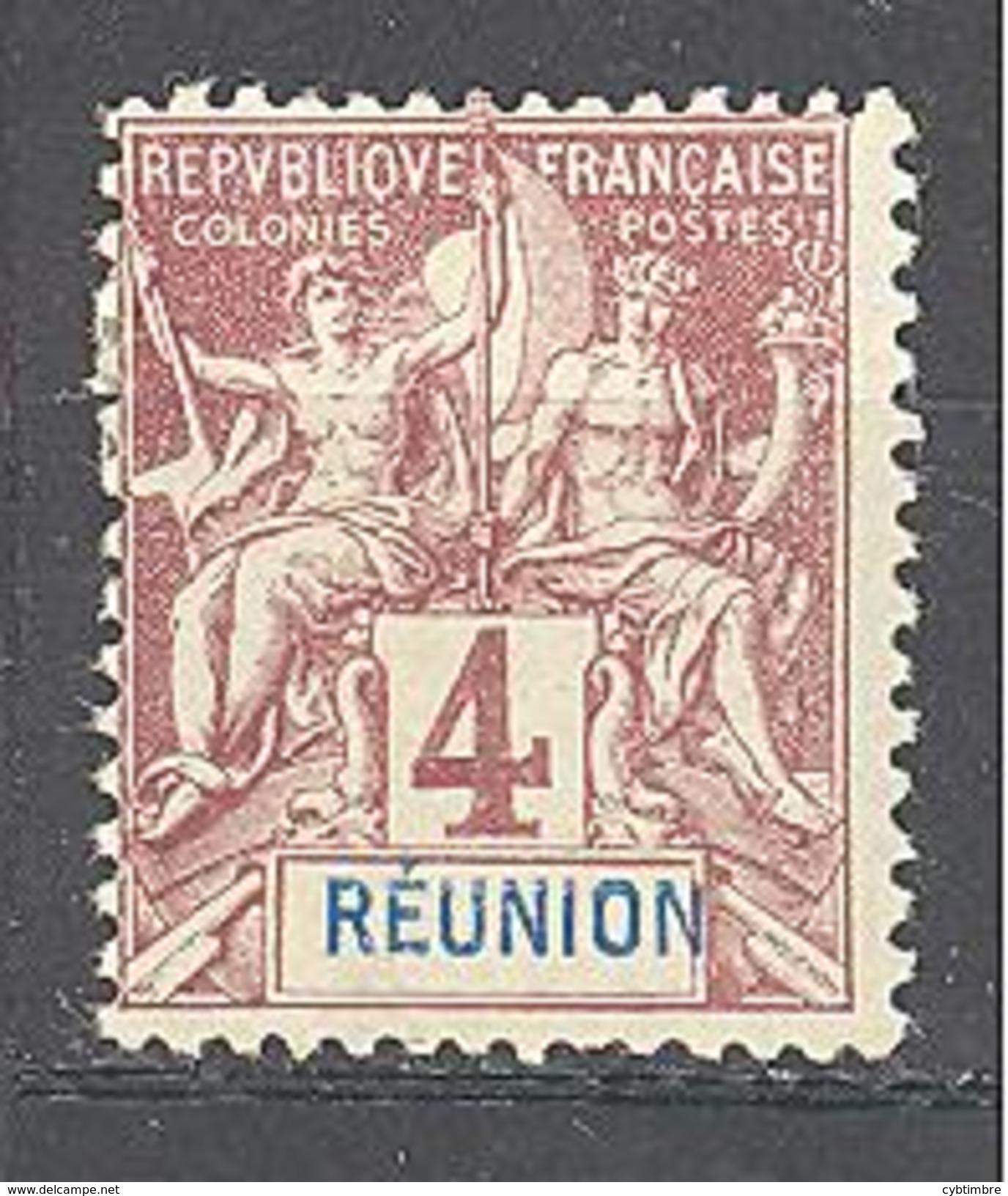 Réunion: Yvert N°34* - Réunion (1852-1975)