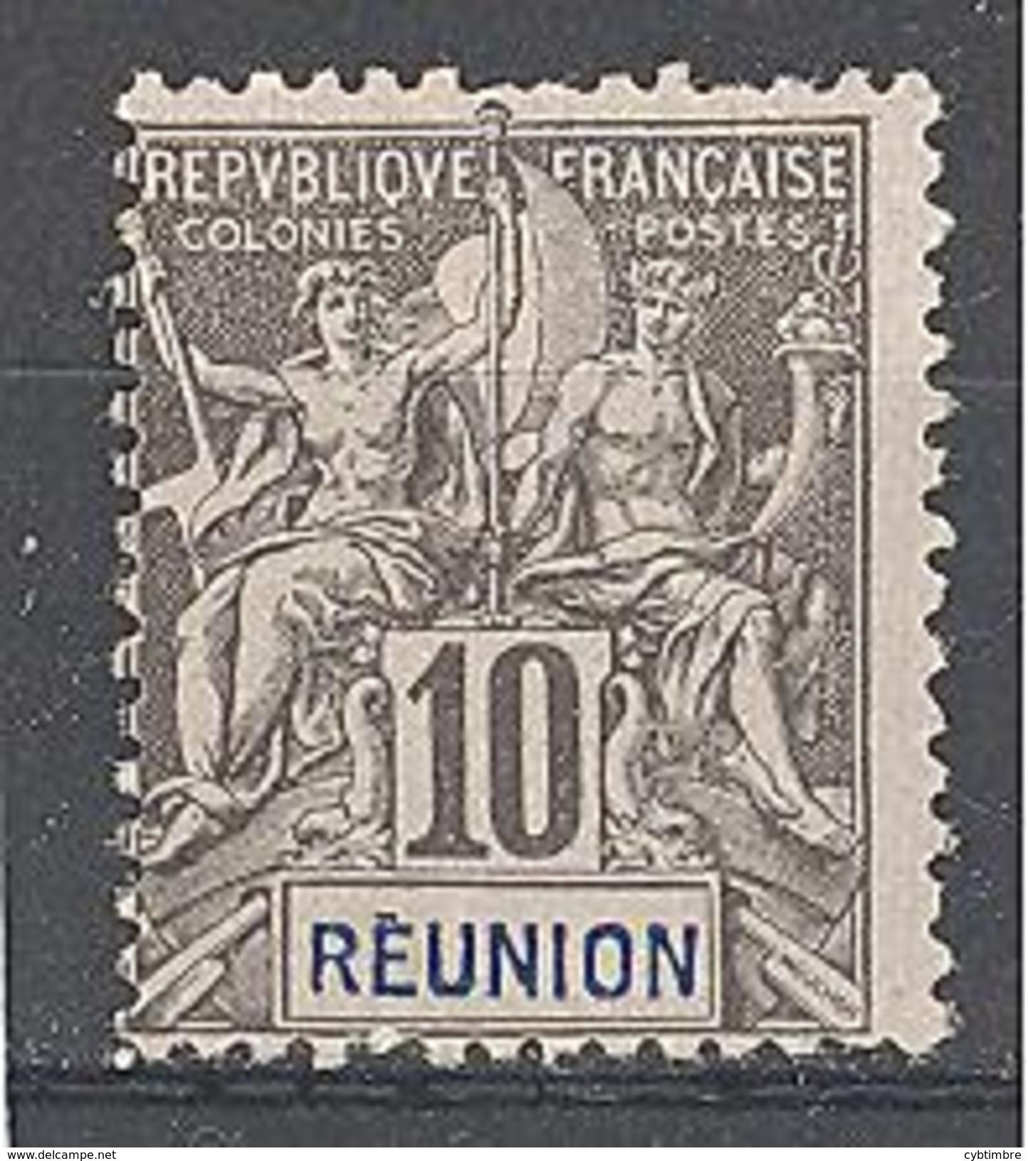 Réunion: Yvert N°36* - Neufs
