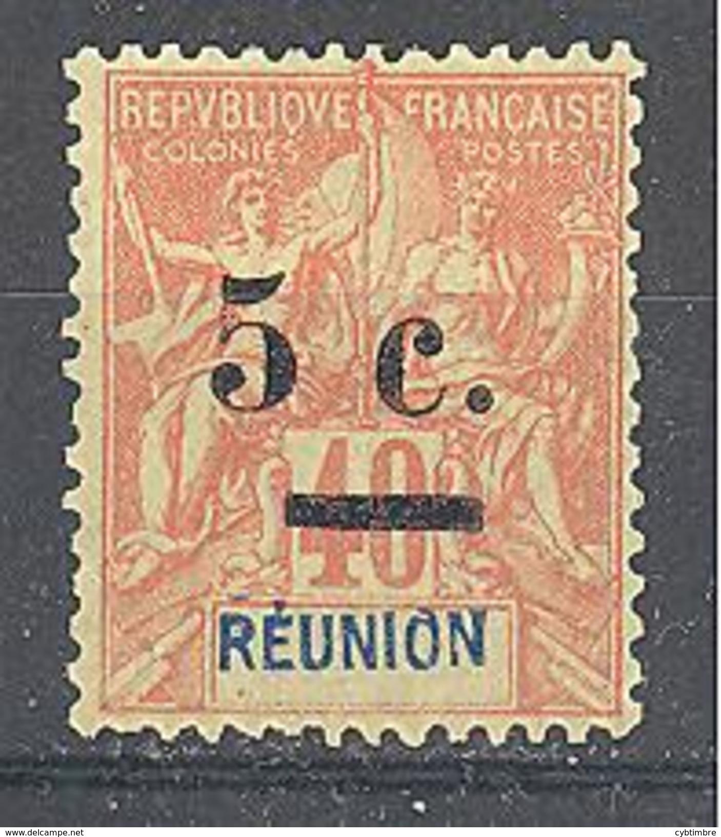 Réunion: Yvert N°52(*) - Réunion (1852-1975)