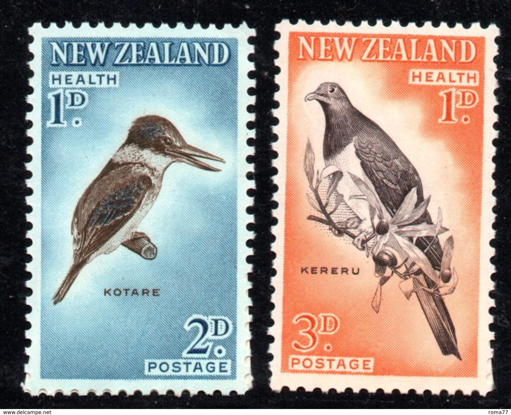 XP2565 - NUOVA ZELANDA 1960 , Yvert Serie 402a/403a  Dent 11 1/2x 11  ***  MNH . - Nuovi