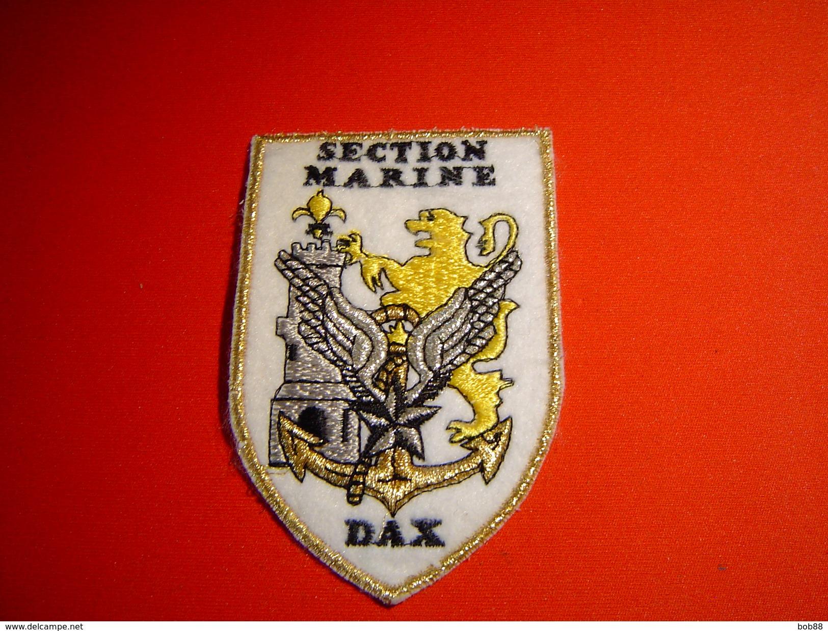 ECUSSON BRODE EAALAT DAX / SECTION MARINE / ALAT / AVIATION LEGERE DE L'ARMEE DE TERRE / - Patches
