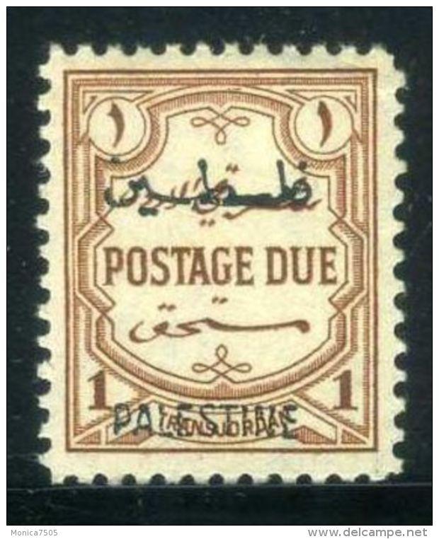 PALESTINE ( TAXE ) : Y&T N°  1  TIMBRE  NEUF  AVEC  TRACE  DE  CHARNIERE  , A  VOIR . - Palestine