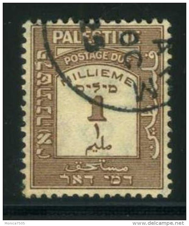 PALESTINE (  TAXE  ) : Y&T N°  6  TIMBRE  BIEN  OBLITERE  , A  VOIR . - Palestine