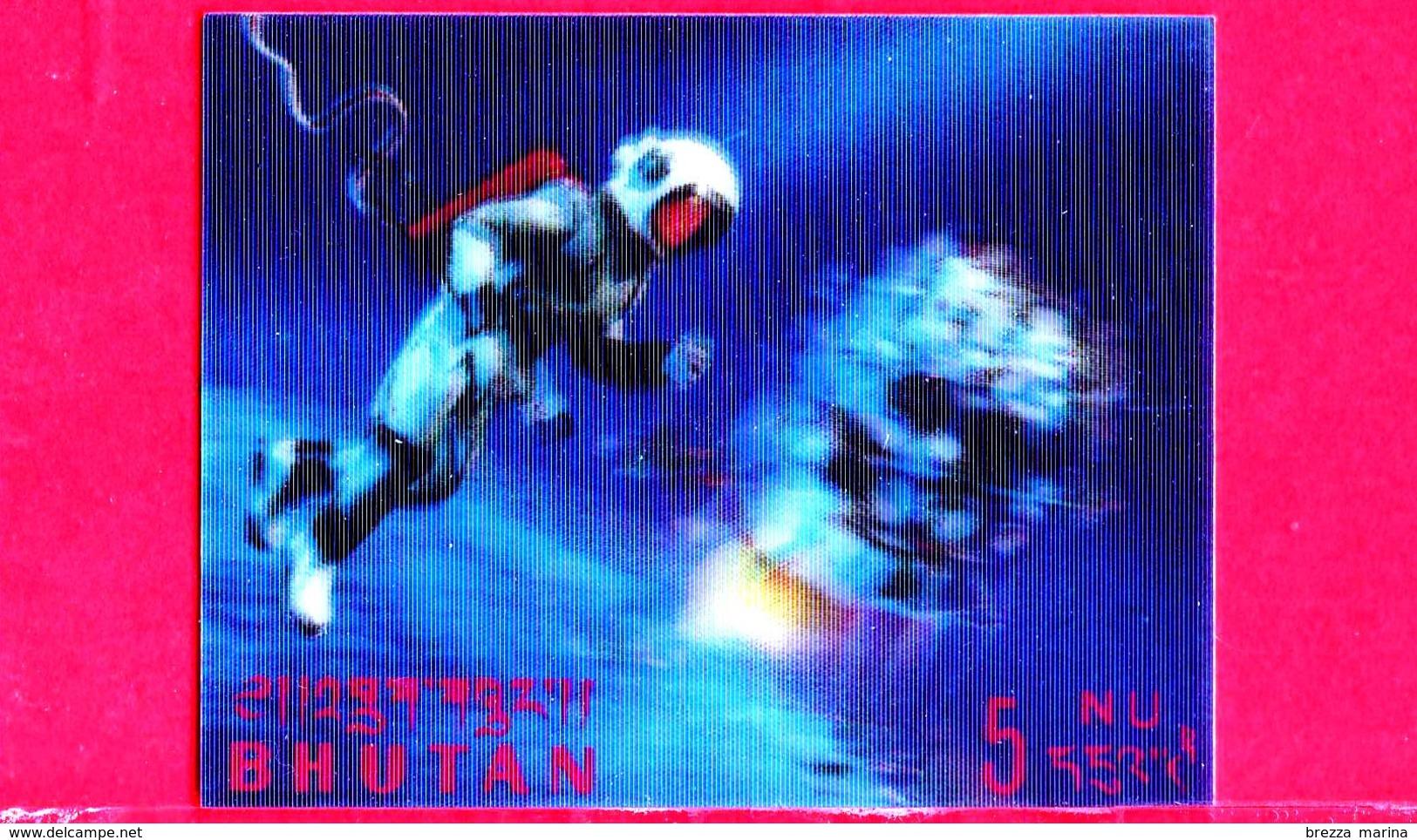 Nuovo - MNH - BHUTAN - 1967 - Esplorazione Dello Spazio - Luna - Astronauti - 5 - Tridimensionale -  3 D - Bhutan