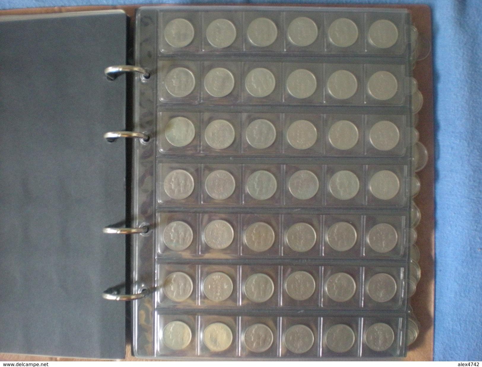 Album De Pièces Belges, 48 X 25 C, 121 X 1 Franc, 101 X 5 Francs, 63 X 10 Francs (album Compris), Détails Sur Demande - Belgique