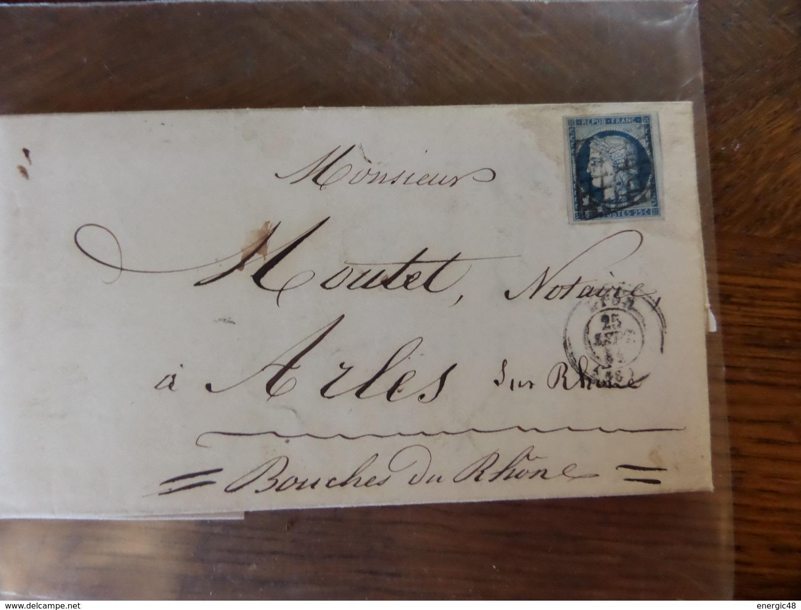 Lot Du 28.05.17_LAC De Lyon Avec N°4; Tardif;variétés ,a Voir!! Et Texte  Sep 53 De Ste-Foix-les-Lyon - 1849-1850 Ceres