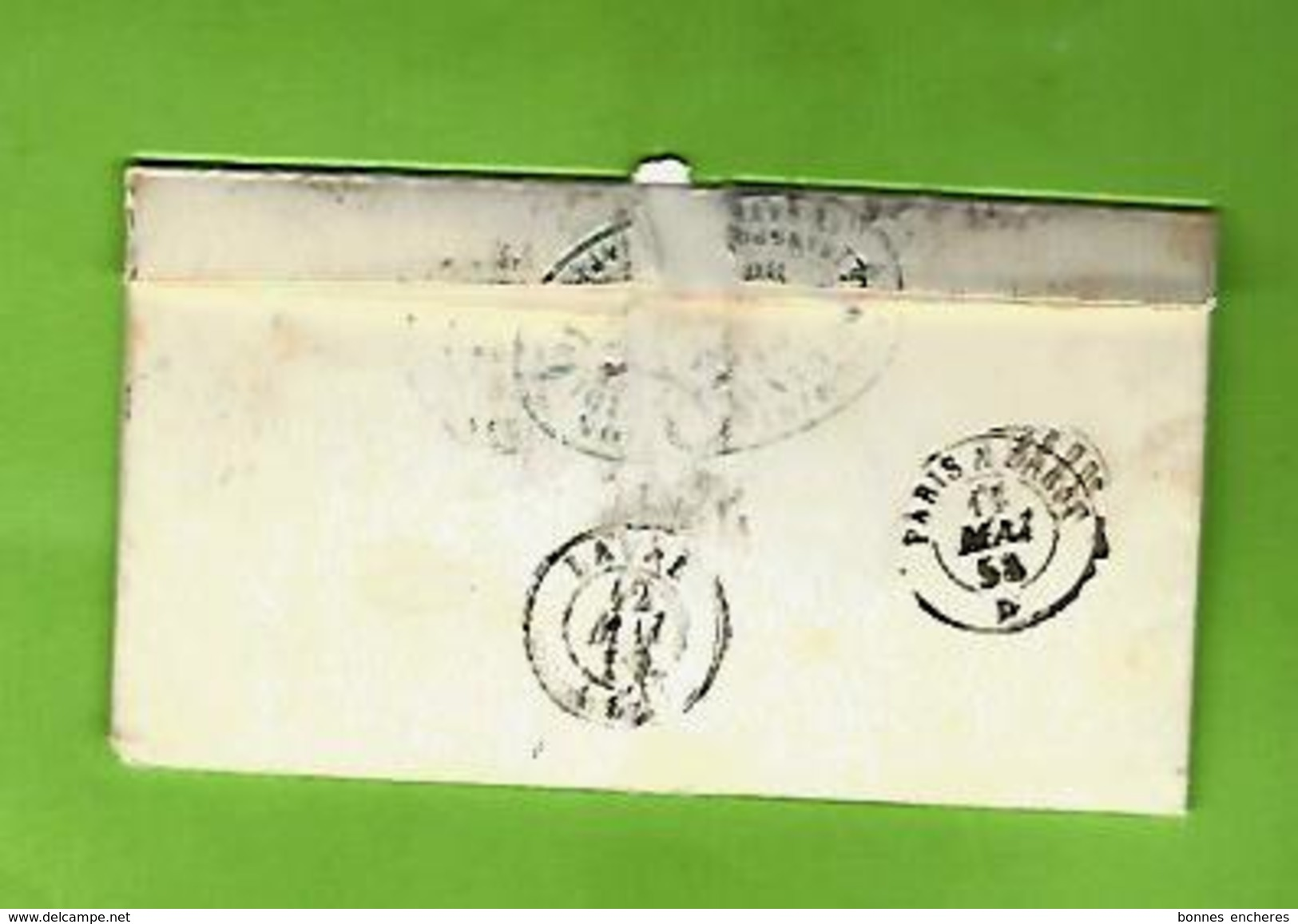 LETTRE D AFFAIRES ENTETE CANAL DU MIDI BORDEAUX  BATEAUX A VAPEUR 1858 Pour VILFEU AVOCAT AVOUE à LAVAL V.SCANS - Manuscrits