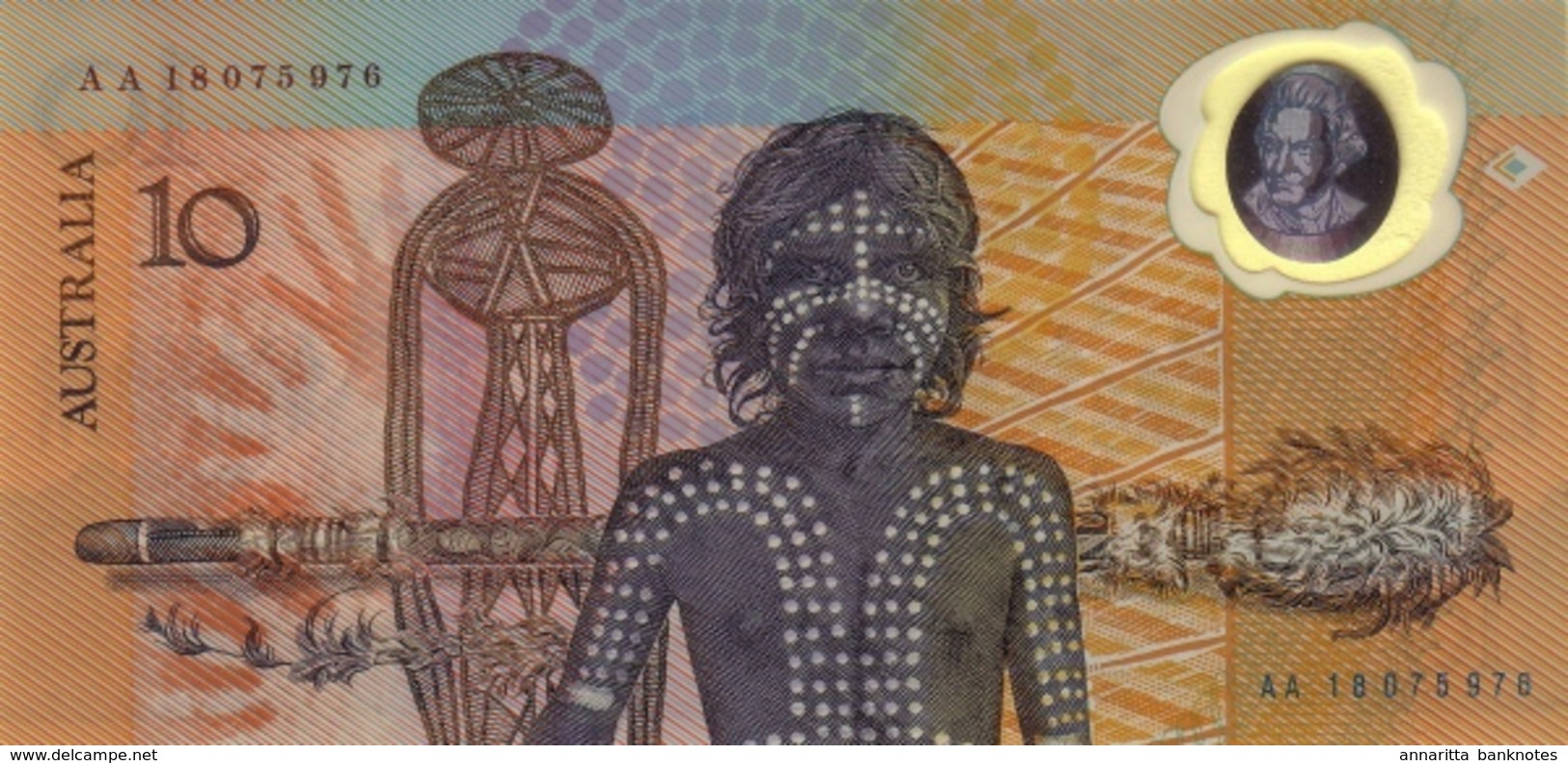 *  AUSTRALIA 10 DOLLARS ND (1988) P-49a UNC COMMEMORATIVE [AU217a] - Decimaal Stelsel Overheidsuitgave 1966-...
