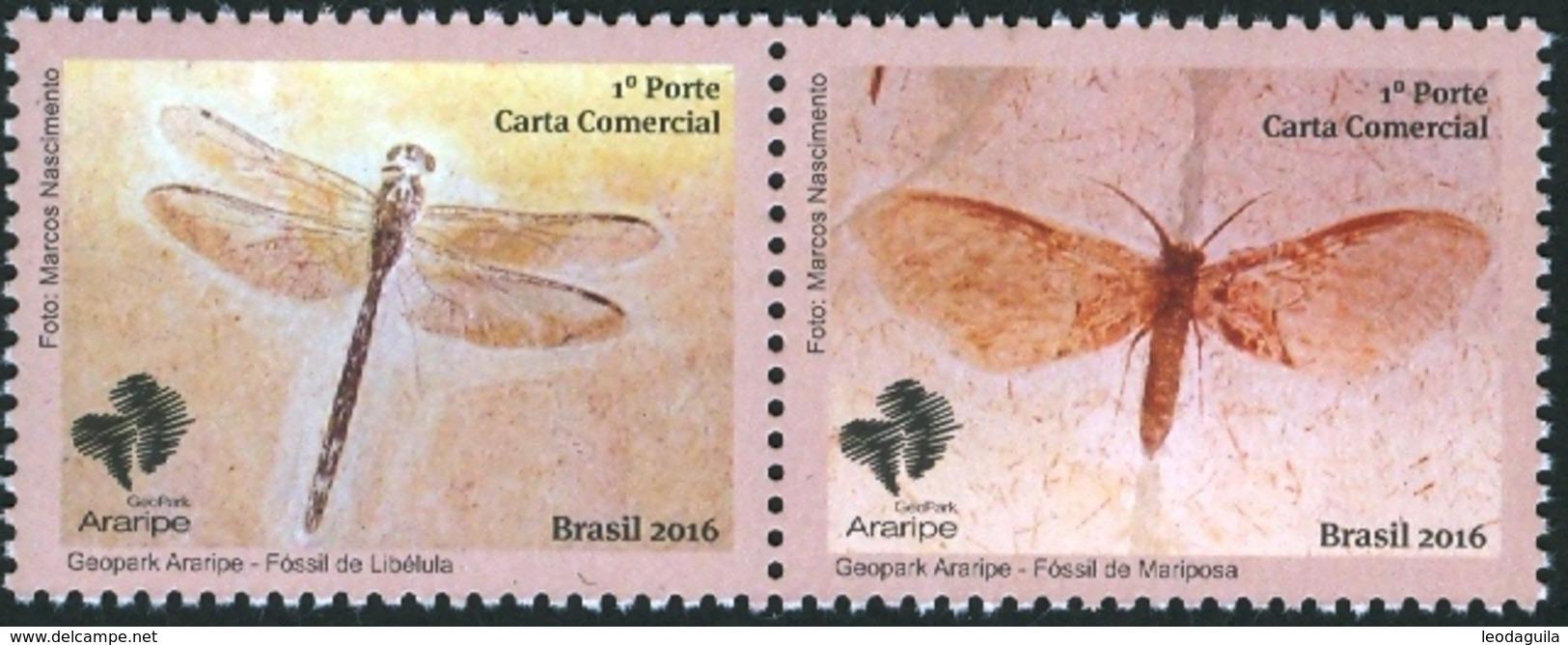 BRAZIL 2016  -  ARARIPE  GEOPARK   -  2v   MNH - Unused Stamps