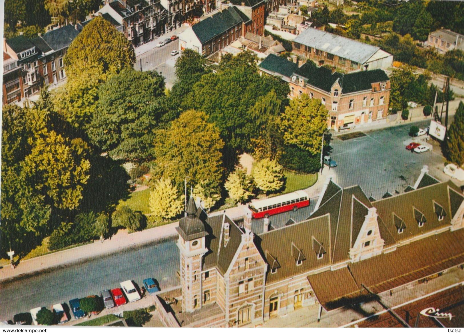Soignies - Jolie Vue Aérienne Du Quartier De La Gare - 1980 - Soignies