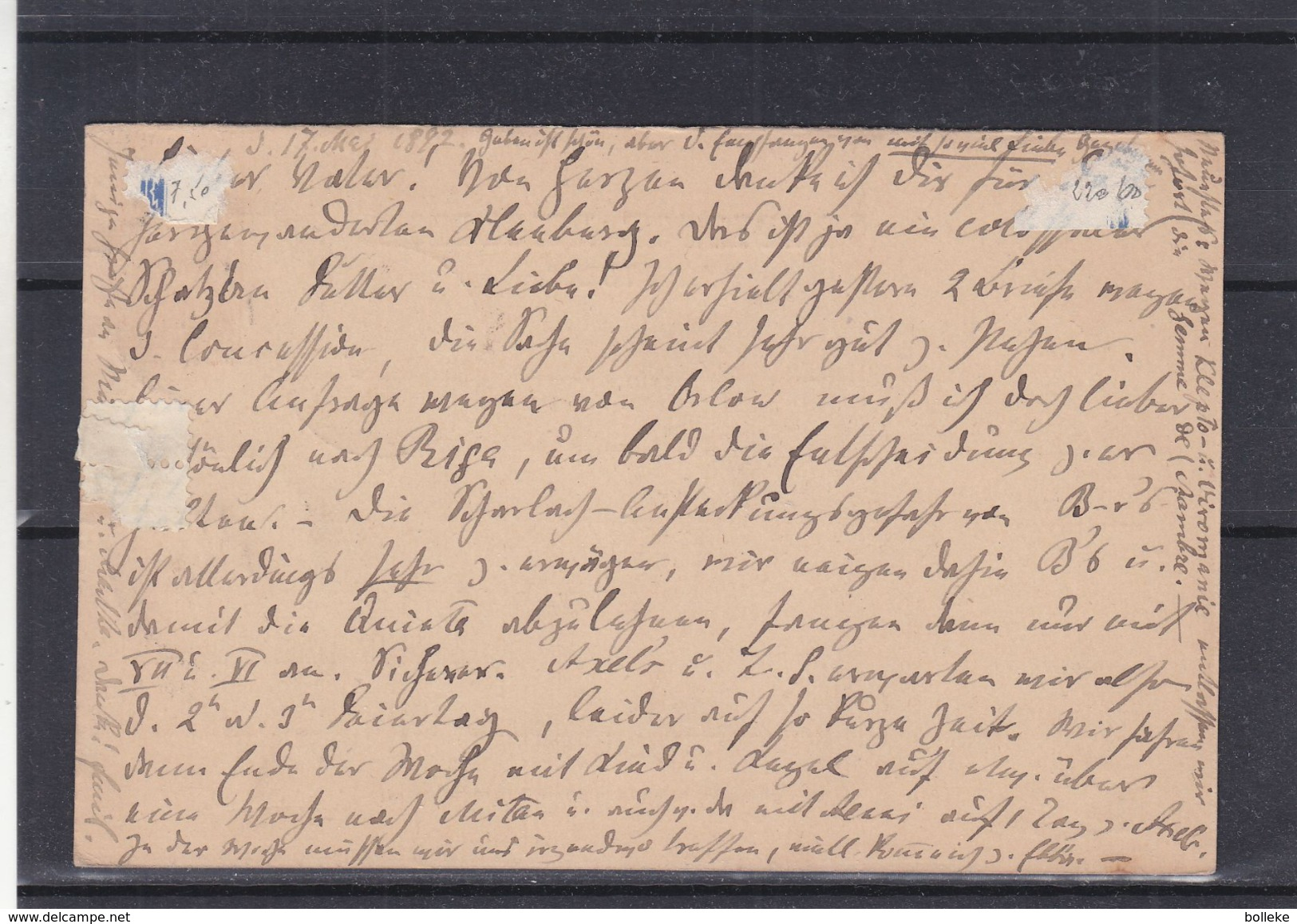 Russie - Lettonie - Carte Postale De 1892 - Entier Postal - Oblit Riga - Exp Vers Doblen - 1857-1916 Imperium