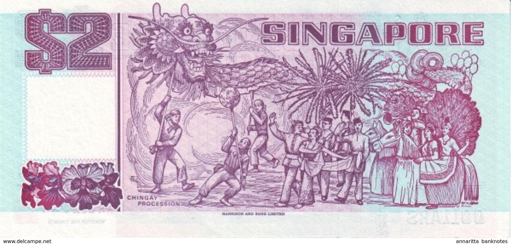 """ SINGAPORE 2 DOLLARS ND P-28a UNC   PRINTER: THOMAS DE LA RUE [SG129a] "" - Singapore"