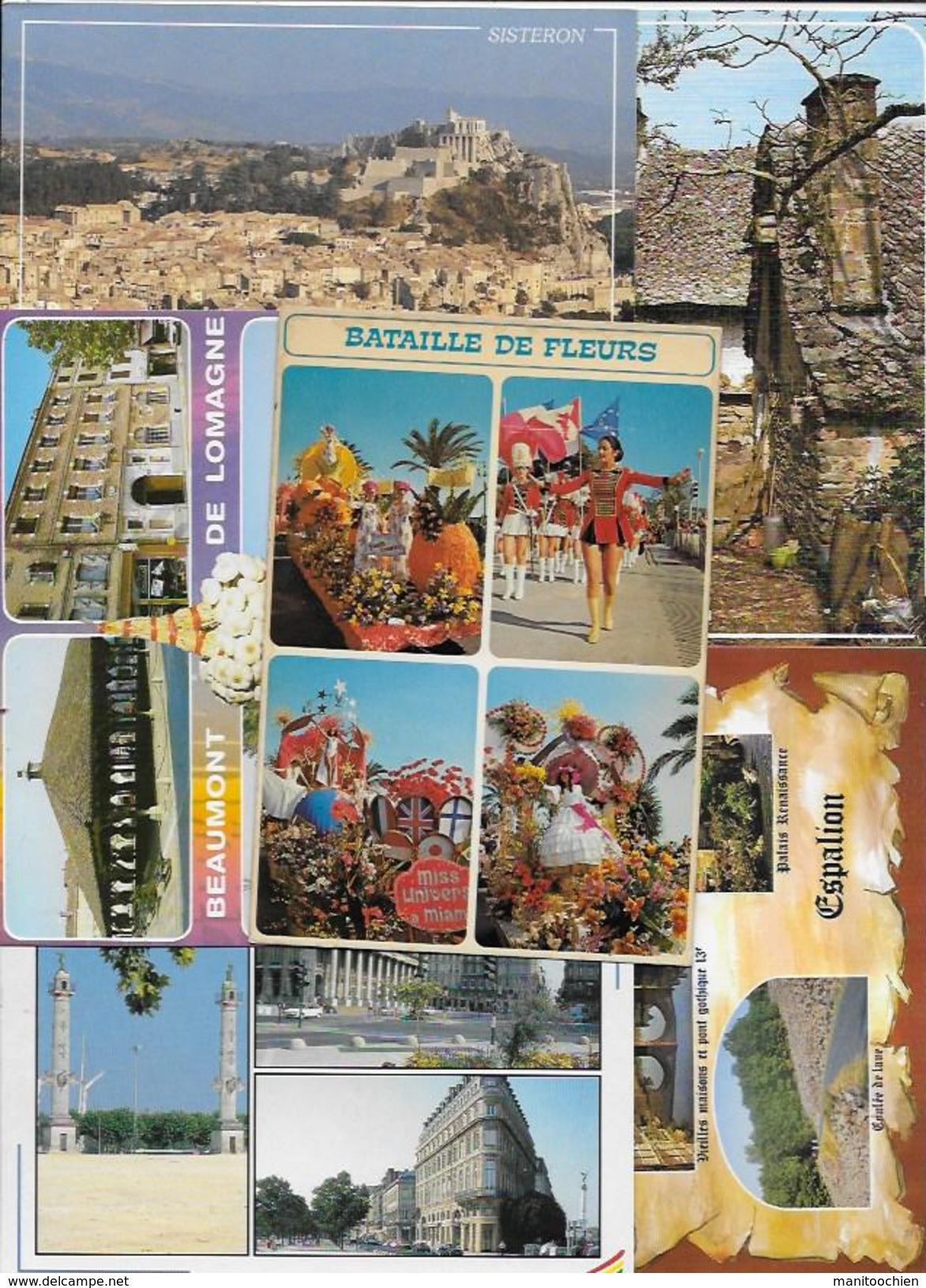 ENORME LOT DE 3000 CPM ET QUELQUE CPSM GRAND FORMAT TOUT VENANT FRANCE ETRANGER THEME CARTE COM - Cartes Postales