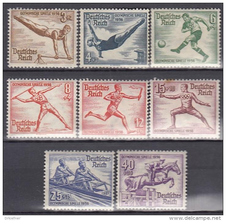 DR  609-616, Ungebraucht *, Olympische Spiele 1936 - Ungebraucht