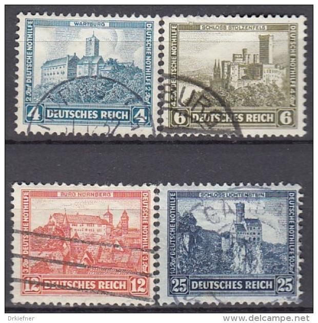 DR  474-477, Gestempelt, Nothilfe 1932, Burgen - Gebraucht