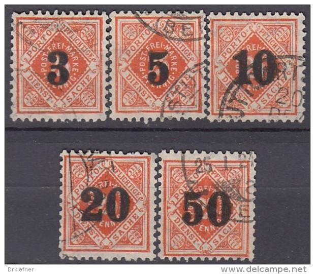 WÜRTTEMBERG  184-188, Gestempelt, Dienstmarken 1923 - Wurtemberg