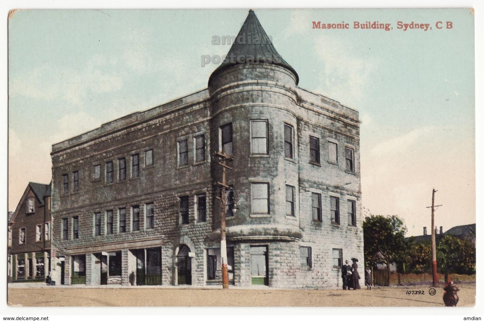 SYDNEY Cape Breton NS Canada - Masonic Building - C1910s Vintage Postcard - Cape Breton