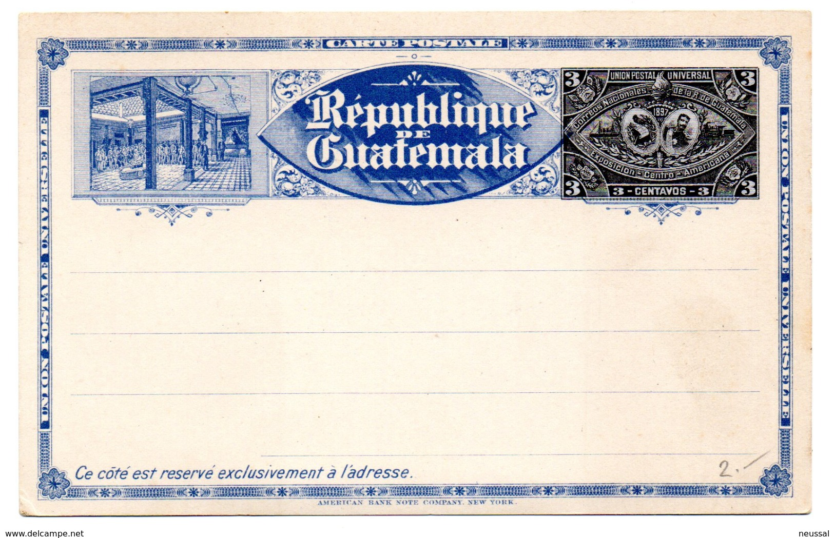 Entero Postal De Guatemala. 3 Centavos. - Guatemala
