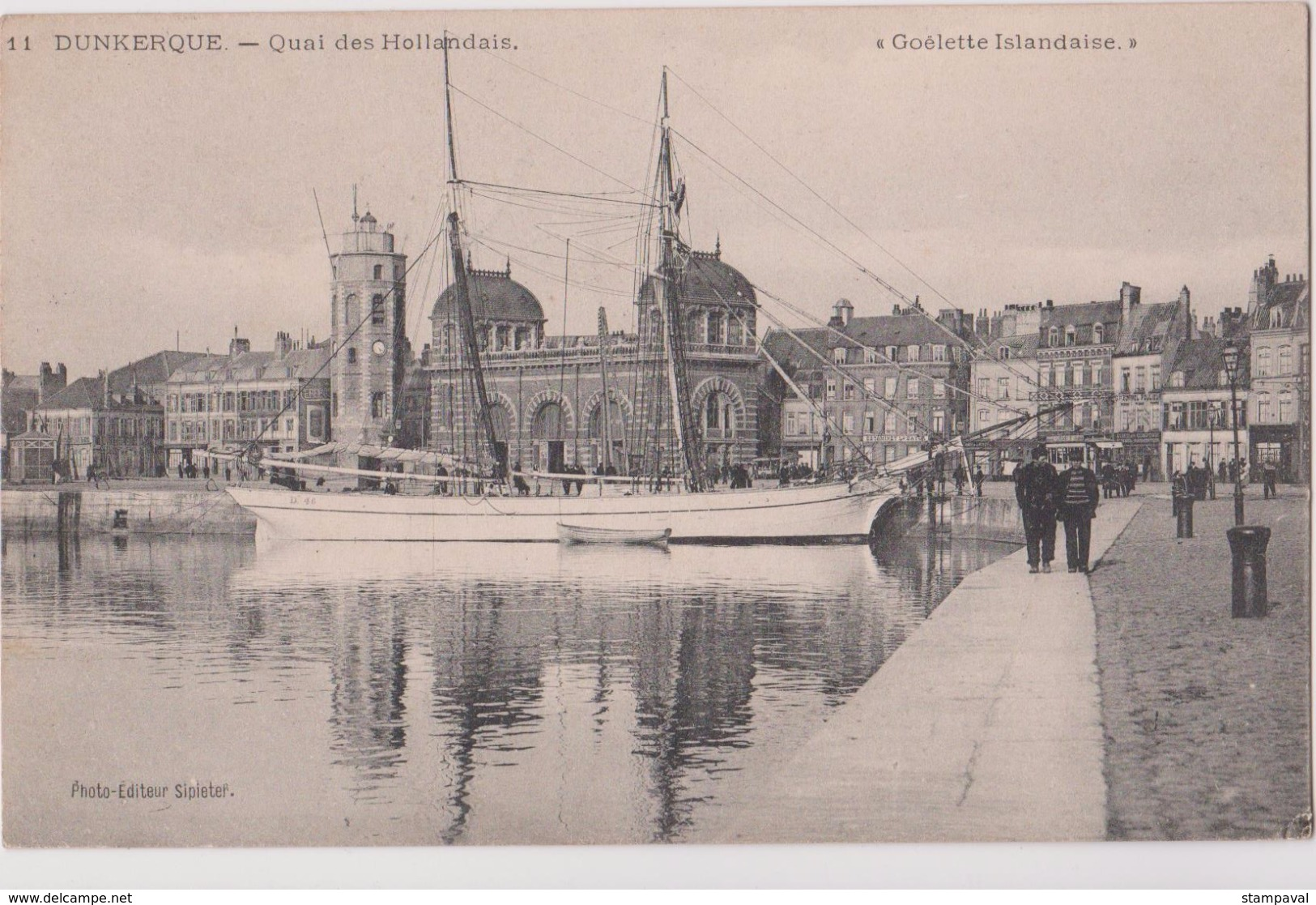 DUNKERQUE - QUAI DES HOLLANDAIS - GOELETTE ISLANDAISE - N° 11 - Segelboote