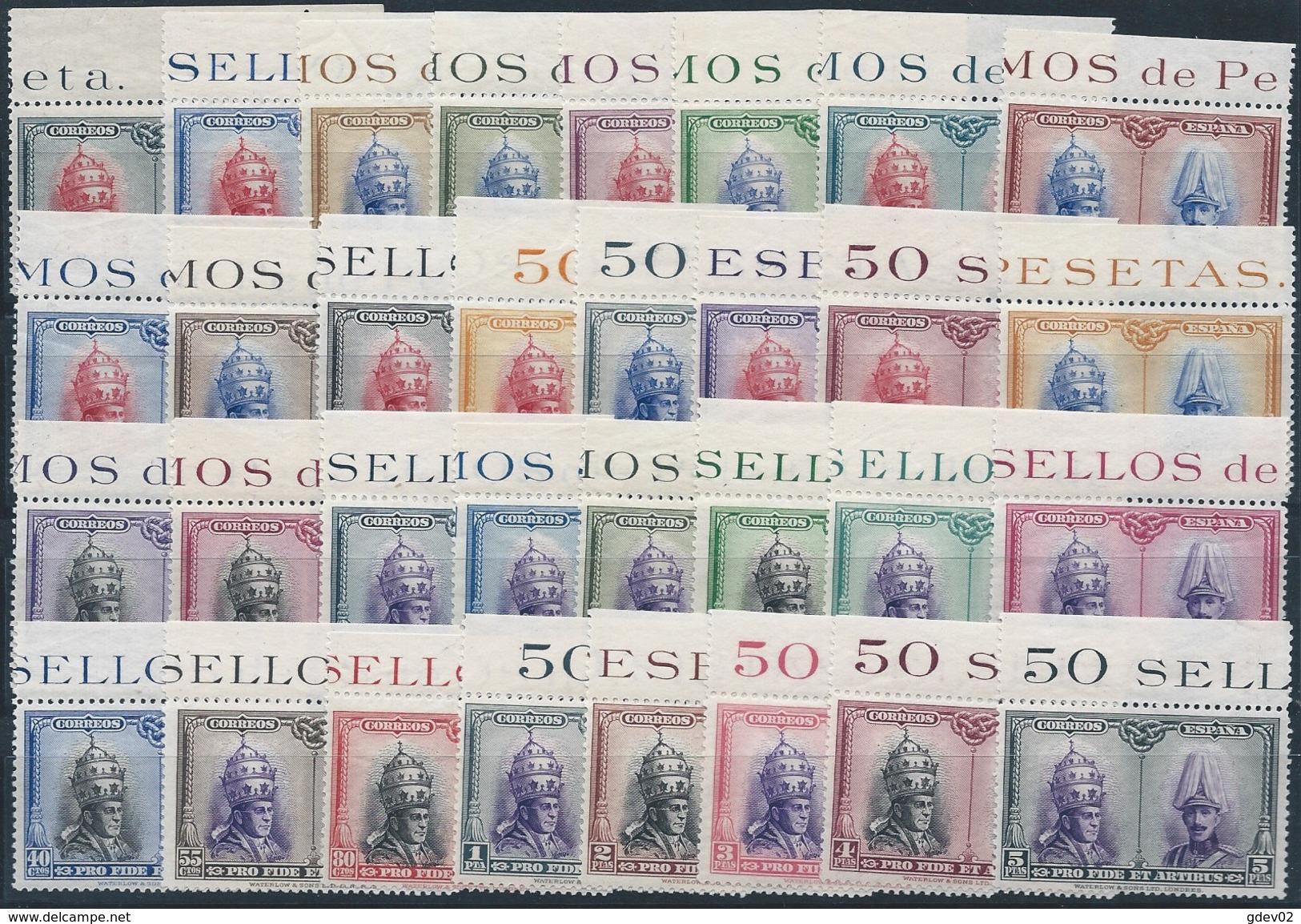 ES402-L4197TCSC. Spain Espagne.REY Y PAPA. PRO CATACUMBAS DE SAN DAMASO EN ROMA1928. (Ed 402/33**) - Celebridades