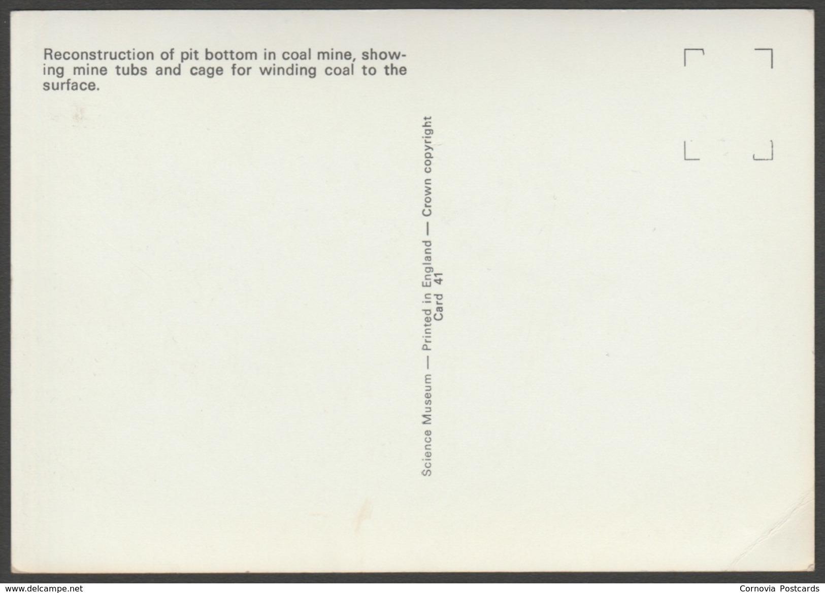 Pit Bottom, Coal Mine, C.1950s - Science Museum RP Postcard - Museum
