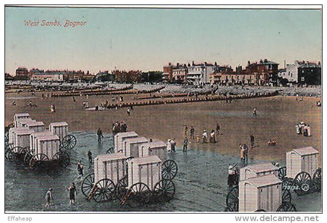 Postcard: Postcard: 'West Sands, Bognor'; Bognor To London, 13 July C. 1917 - Unclassified