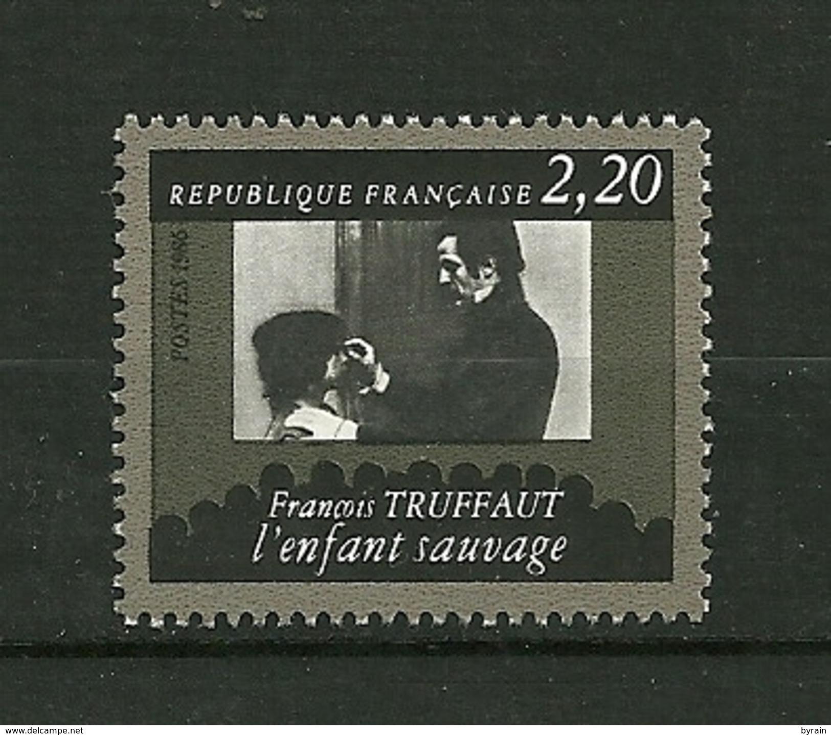 """FRANCE 1986  N° 2442 """"  Cinquantenaire De La Cinémathèque Francaise ( Francois Truffaut L'enfant Sauvage) """"    NEUF - Neufs"""