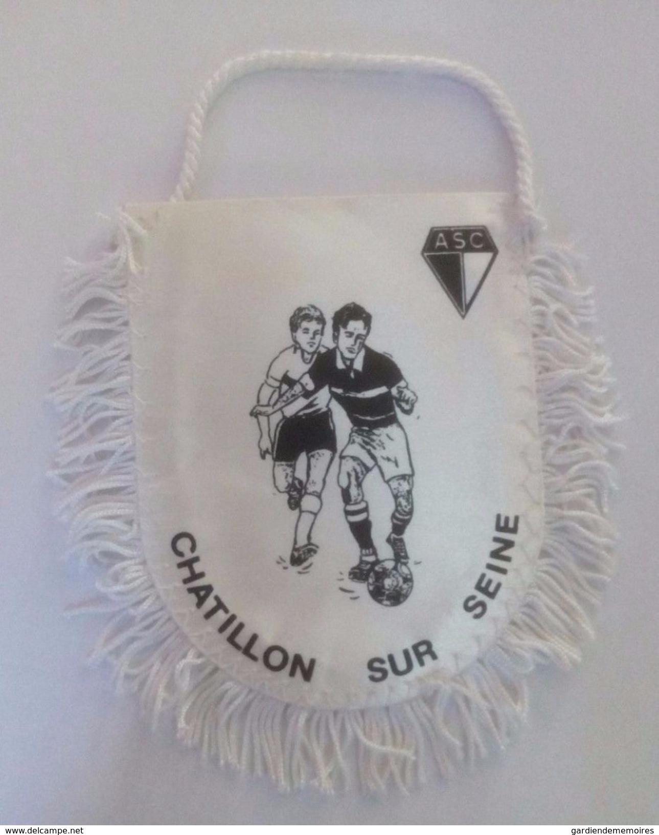Ancien Fanion De Football - ASC Chatillon Sur Seine - Habillement, Souvenirs & Autres