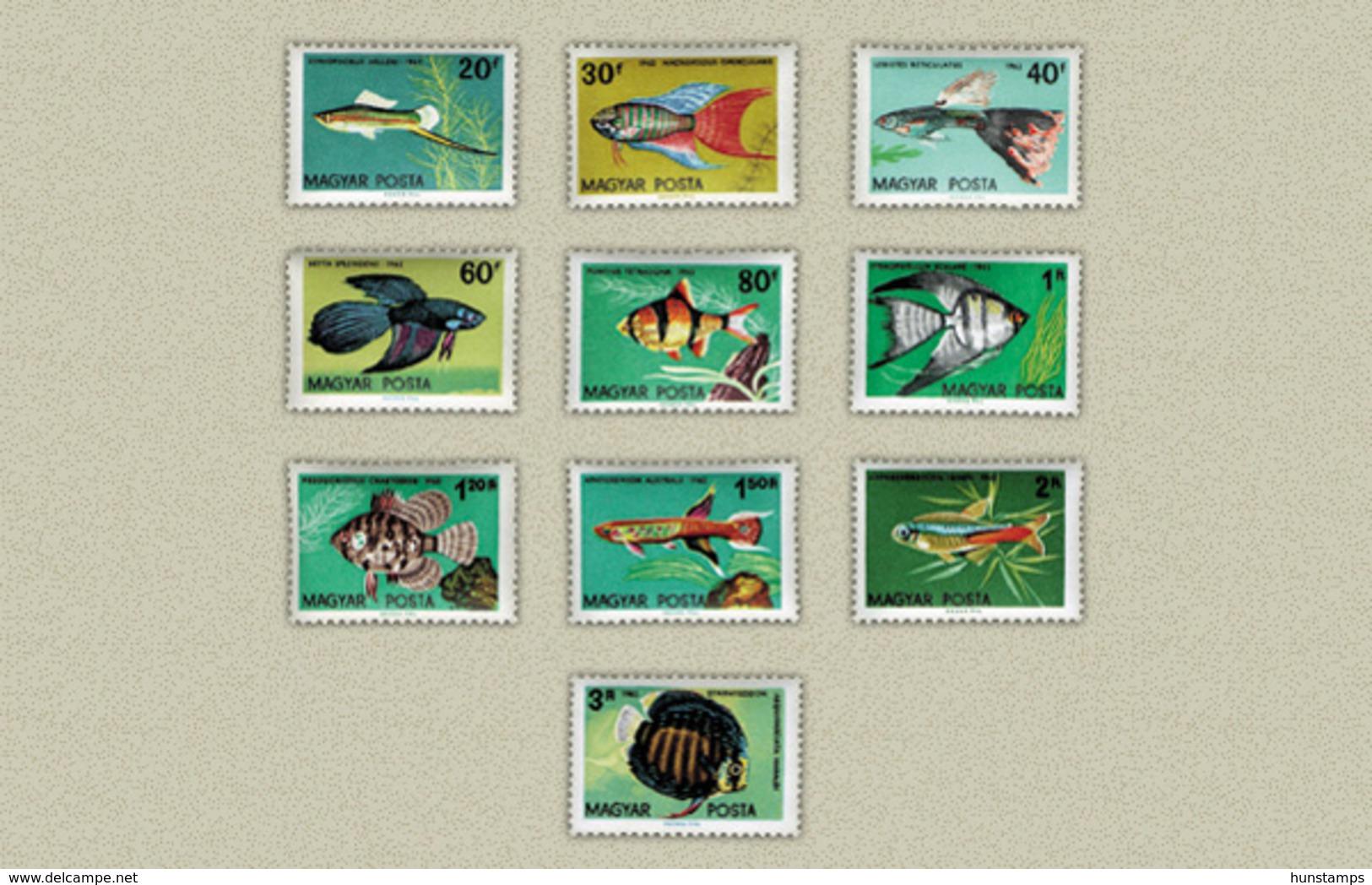Hungary 1962. Animals / Fishes Set MNH (**) Michel: 1820-1829 / 5.50 EUR - Ungebraucht