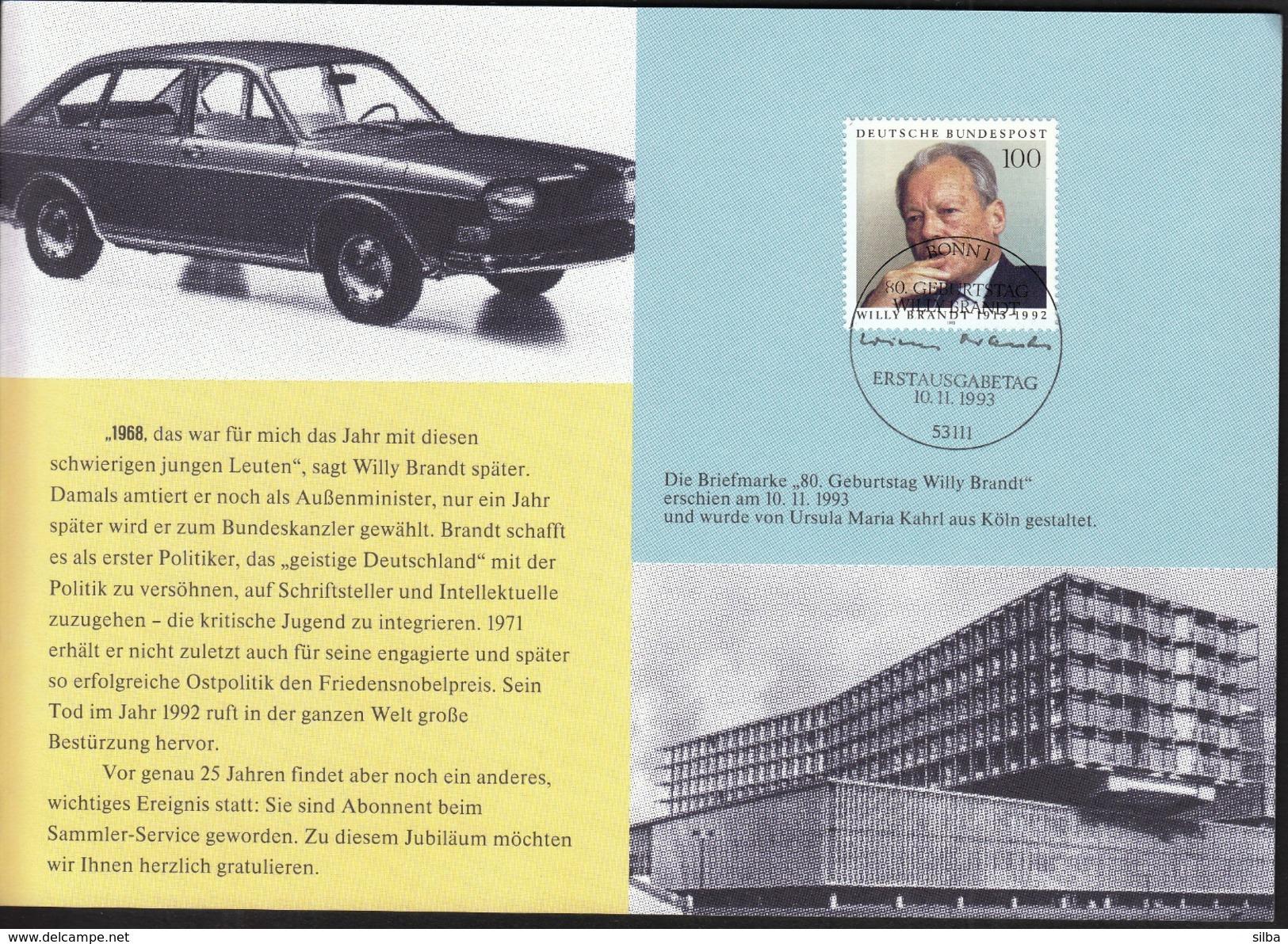 Germany Bonn 1993 / Willy Brandt / German Statesman - Otros