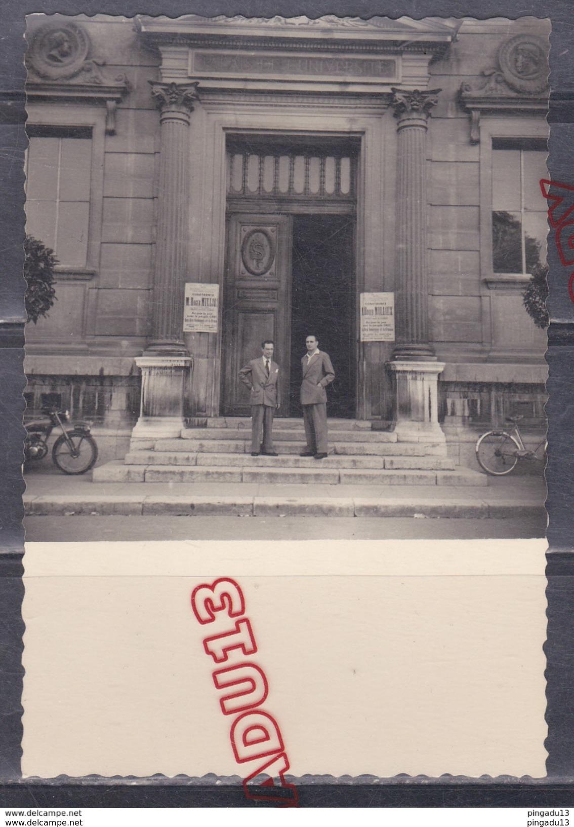 Au Plus Rapide Grenoble 1954 Palais De L'Université Conférence R Milliex Au Jour Le Jour Avec Le Peuple Grec Grèce - Places
