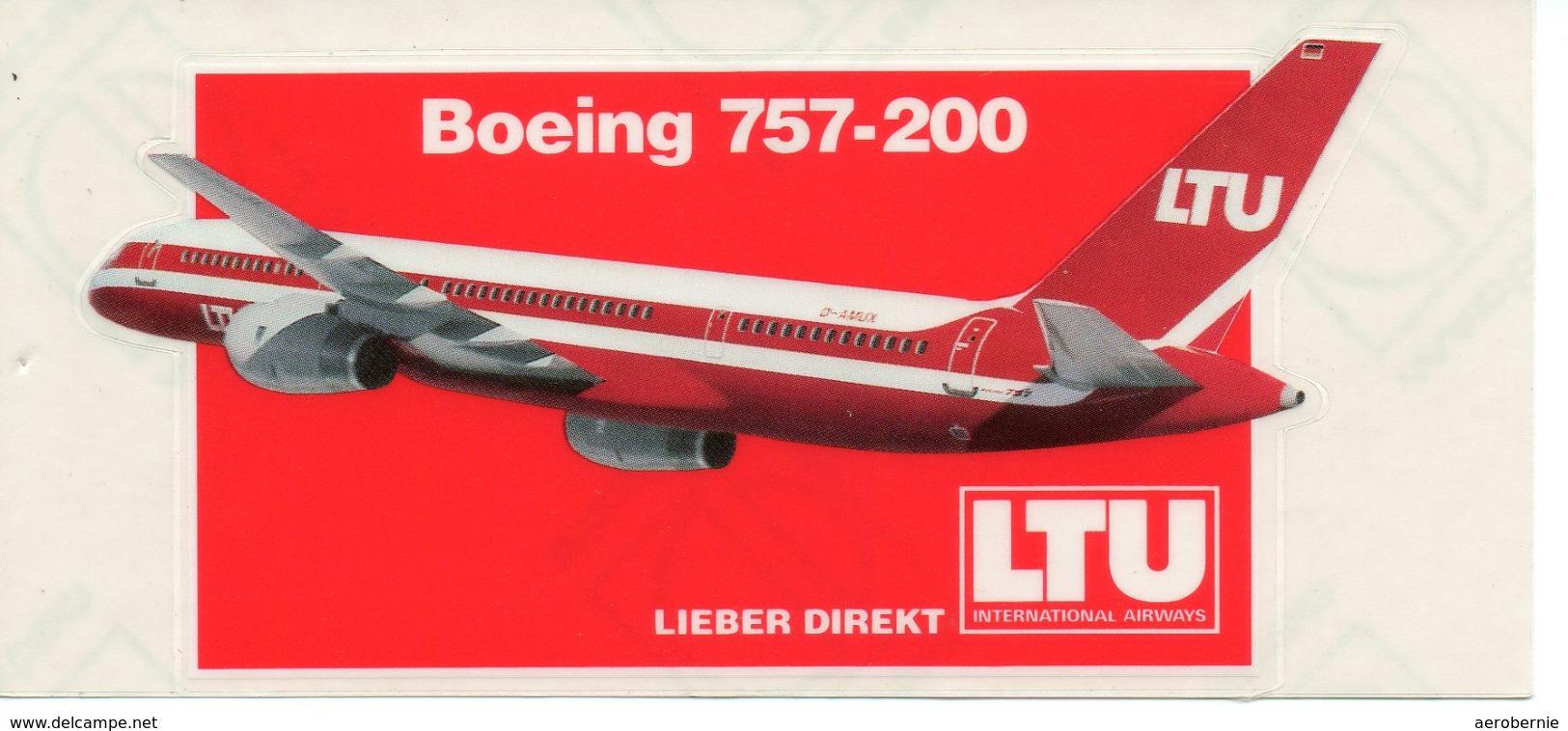 Aufkleber LTU - Boeing 757 - Aufkleber