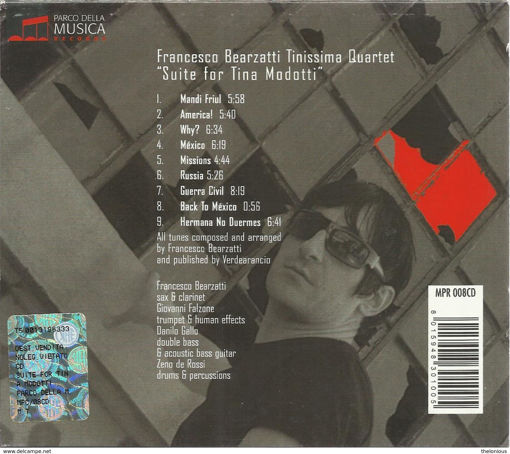 # CD: Francesco Bearzatti - Suite For Tina Modotti - Udine 2007 - Jazz
