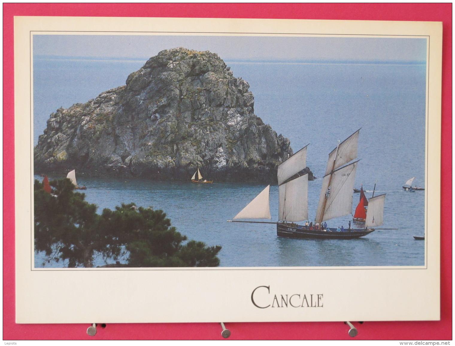 35 - Cancale - La Bisquine Devant Le Rocher De Cancale - Neuve Excellent état - Scans Recto-verso - Cancale