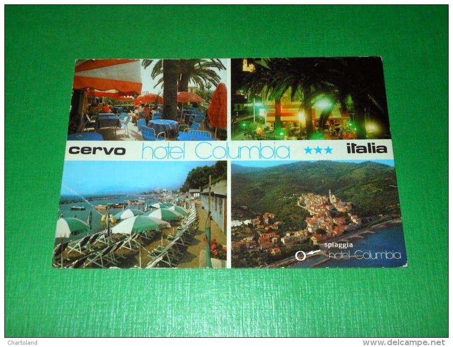 Cartolina Cervo - Hotel Columbia - Vedute Diverse 1975 Ca - Imperia