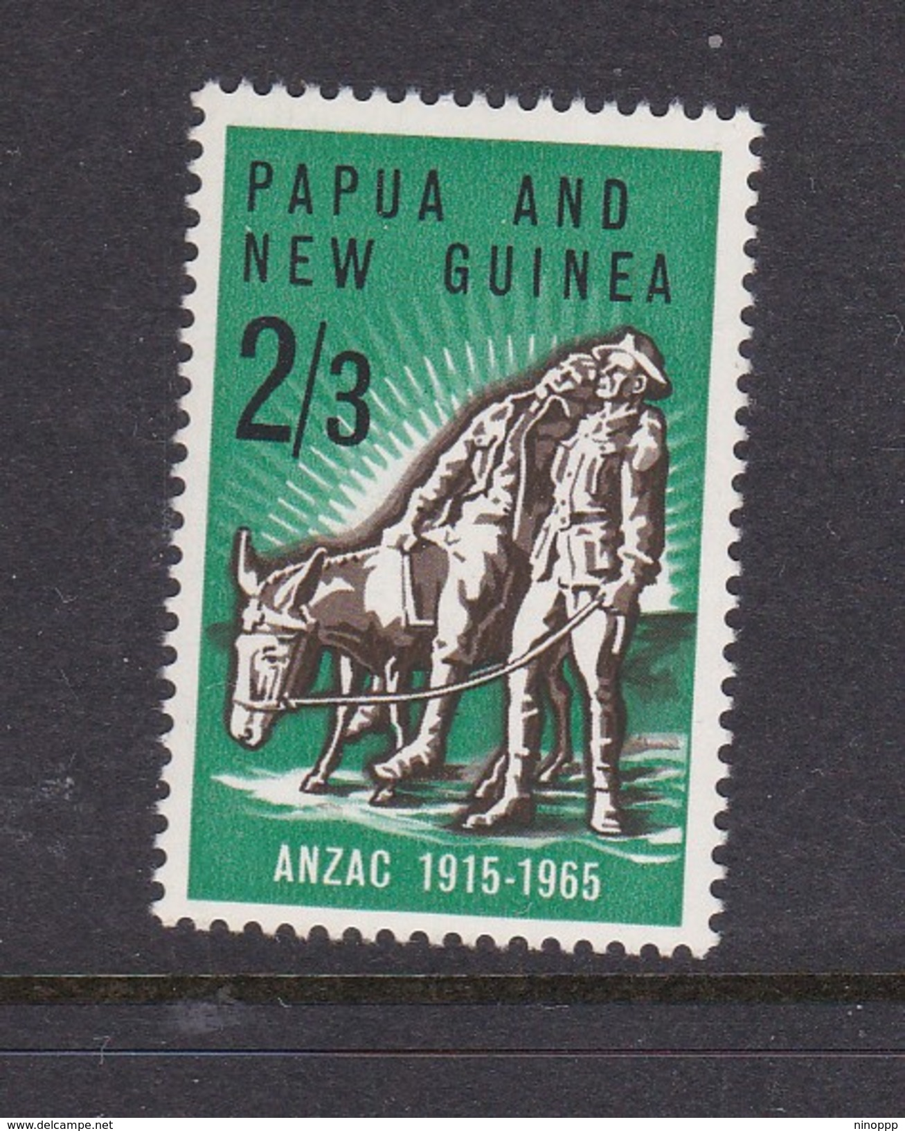 Papua New Guinea SG 76 1965 50th Anniversary Of Gallipoli Landing Mint Never Hinged - Papua New Guinea