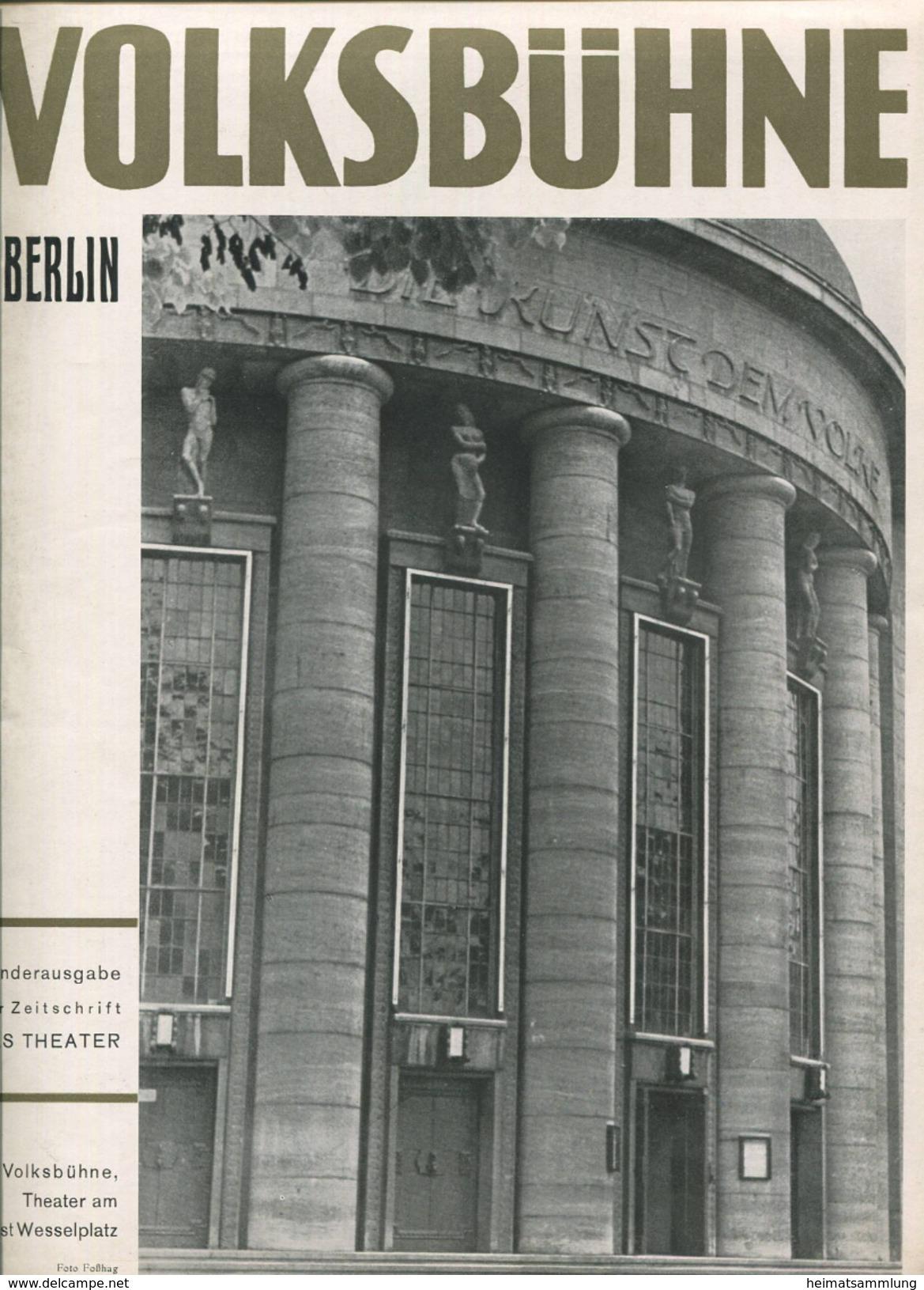 Volksbühne Theater Am Horst Wesselplatz Berlin - Sonderausgabe Der Zeitschrift Das Theater 1937/38 - 16 Seiten Mit 35 Ab - Theatre & Scripts