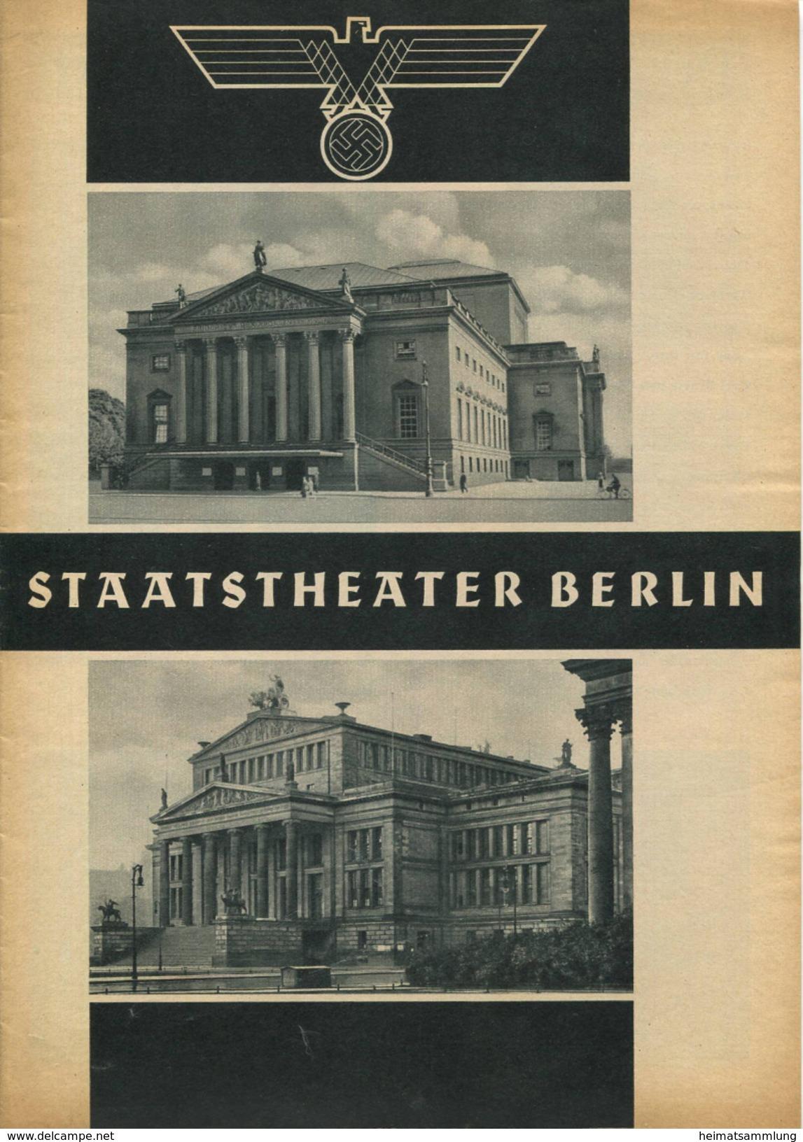 Staatstheater Berlin - Spielzeit 1935/36 - 3 Doppelseiten DINA4-Formatmit Vielen Abbildungen - Anni Konetzni Karl Hamme - Theatre & Scripts